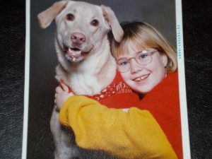 Teddy with my sister Kate. He was one photogenic pup.